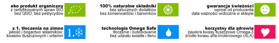 zalety BIO oleju lnianego Primanatura - najlepszego w Polsce oleju do diety dr Budwig