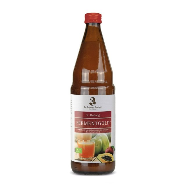 Dr Budwig Original Fermentgold - BIO papaya and BIO apple juice - 750 ml - direct, not from concentrate, not pasterurized