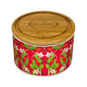 Revitalise Ceramic Tea Caddy (RED) - super gift